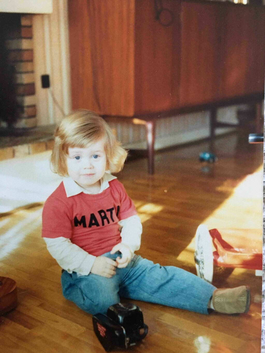 Martin vokste opp som enebarn.