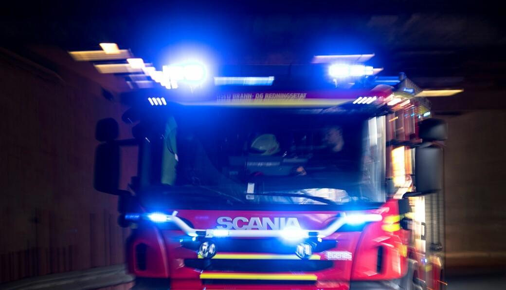 Brannbil under utrykning i Oslo brann- og redningsetat. Illustrasjonsfoto: Gorm Kallestad / NTB
