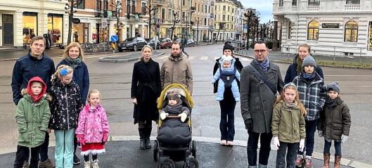 Barnefamilier frykter de må flytte hvis trikken legges til Skovveien: - Skoleveien blir et mareritt