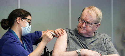 Svein Andersen (67) ved Ellingsrudhjemmet først med koronavaksine: - Nesten som da Armstrong gikk på månen
