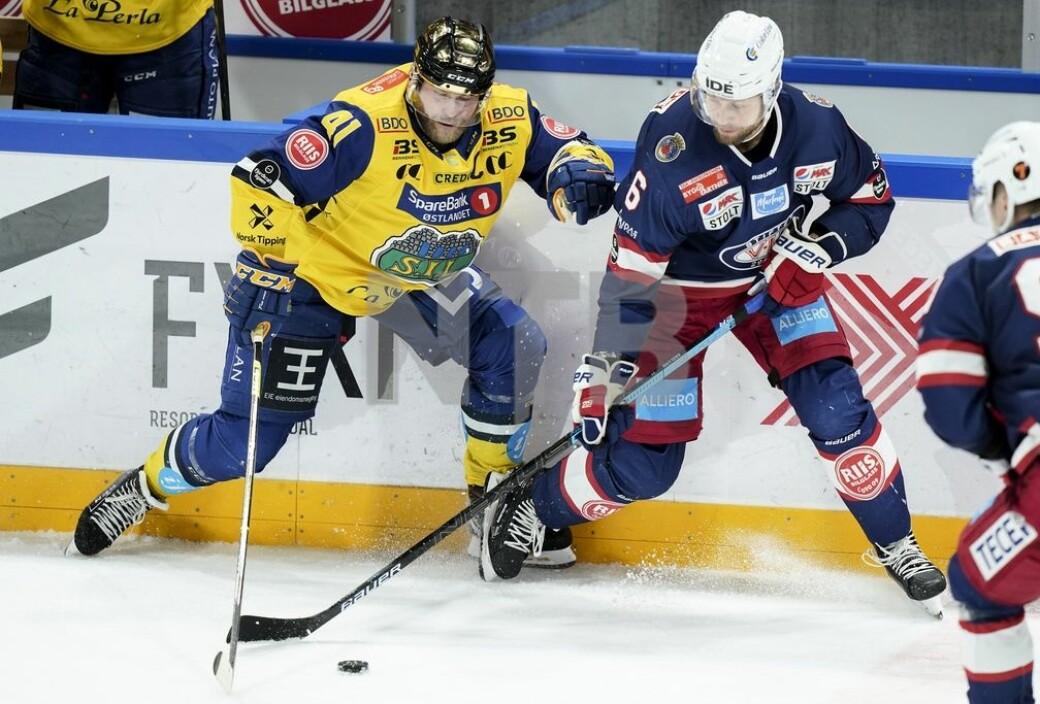 Patrick Thoresen (t.v) kunne rett før jul slå fast at Kalle Ekelund er i siget igjen. Storhamar gikk på en smell da Vålerenga halte i land seier 21. desember.