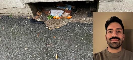 – Søpla flyter. Har kommunen nedprioritert søppelplukkingen? spør Henrik