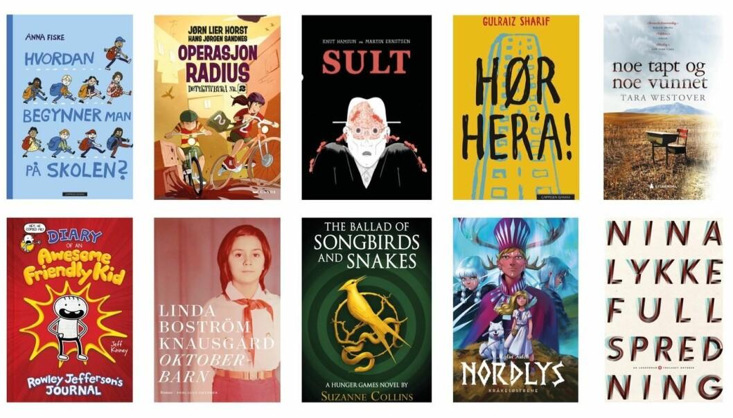 Her er noen av fjorårets mest utlånte bøker på Deichman folkebibliotek i Oslo.