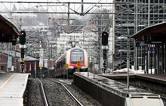 Mer togtrøbbel: Skinnebrudd ved Skøyen rammer både lokaltog og fjerntog