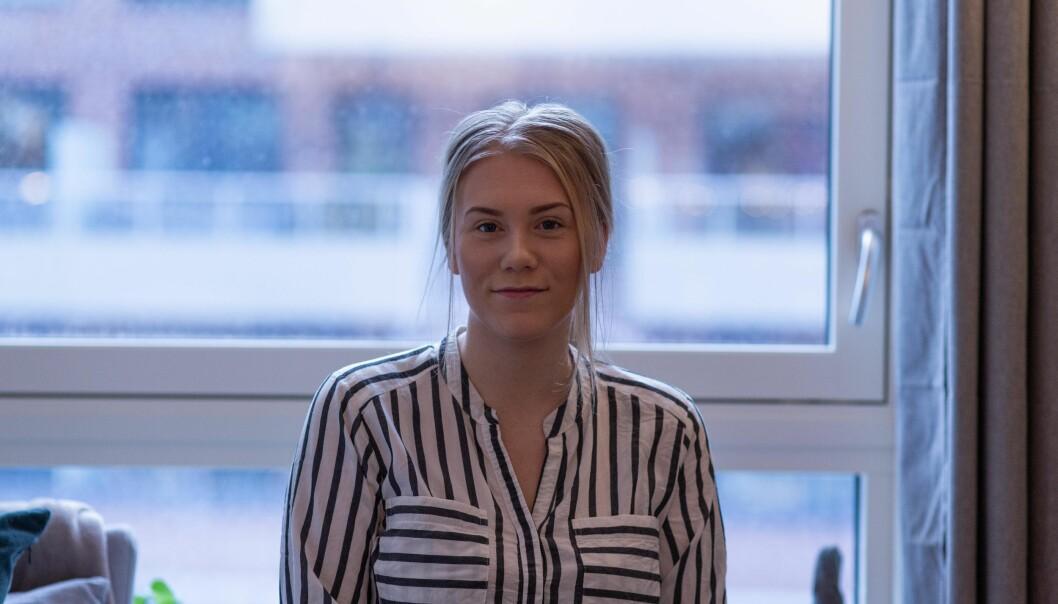 Katarina Skallist er på sisteåret i masteren sin og har fått nok av korona.