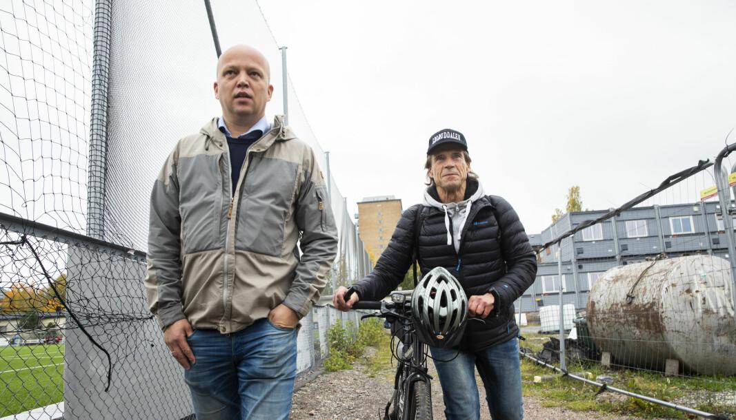Sps toppkandidat i Oslo, Jan Bøhler og Sp-leder Trygve Slagsvold Vedum, ønsker å plassere NRK i området rundt Grorud stasjon, og utelukker ikke å bruke sin eventuelle regjeringsmakt etter høstens valg til å få forslaget gjennom.