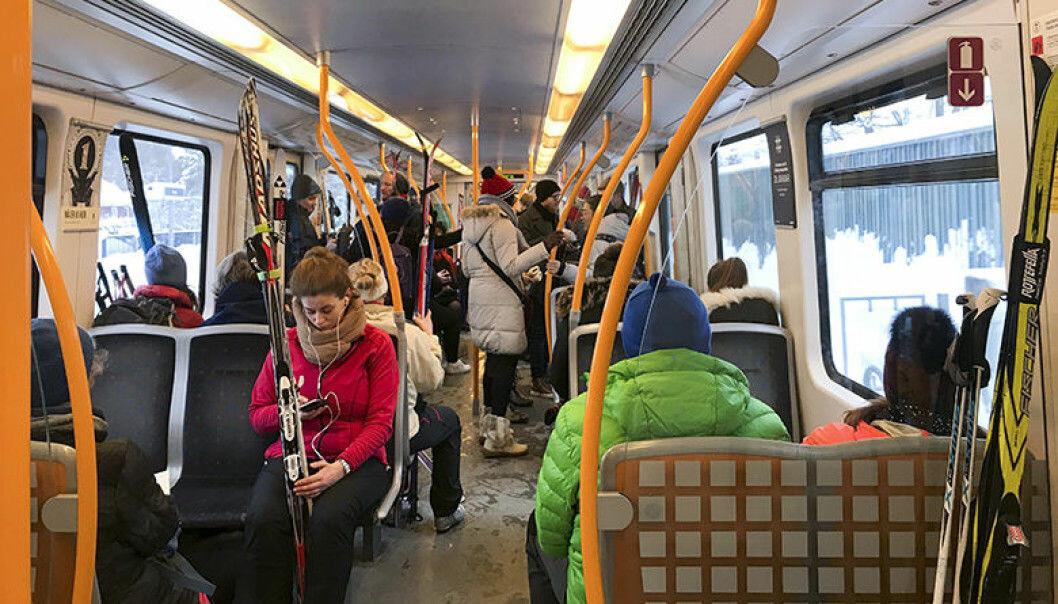 Ruter ba folk før helgen unngå å reise ut i Marka med T-bane.