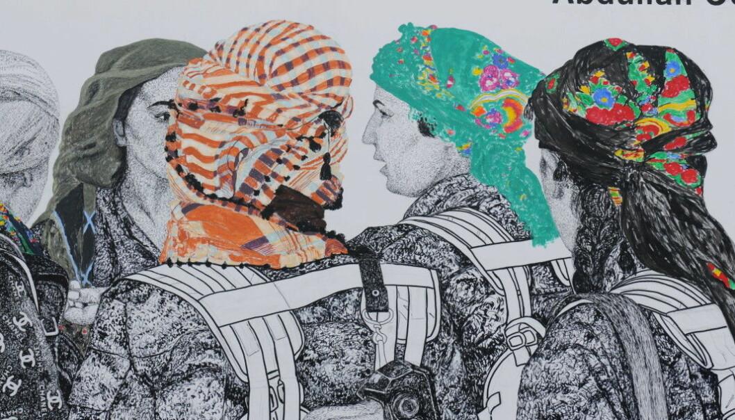 Utsnitt av The Women's Revolution av kurdisk-norske Gelawesh Waledkhani.