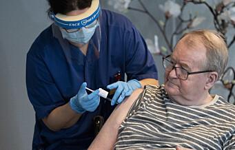 I dag ble Svein (67) ved Ellingsrudhjemmet første nordmann som fikk vaksinedose nummer to mot korona