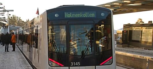 Glatte skinner stanser T-banen mellom Majorstua og Holmenkollen