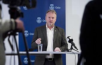 Raymond Johansen: - Vi må se tydelig smittenedgang over tid før det blir aktuelt med store lettelser i Oslo
