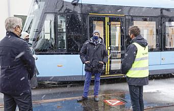Sporveien-ansatte fortalte Kronprinsen om arbeidshverdagen under pandemien