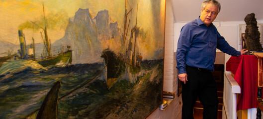 Pål bor i etasjen over kunstantikvariatet sitt i Bygdøy allé. Det ble millionomsetning i kjelleren i 2020