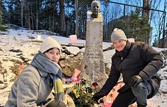 Byrådsleder Raymond Johansen om vandaliseringen av minnesmerket for Benjamin: — Det er en avskyelig handling og gjort for å provosere