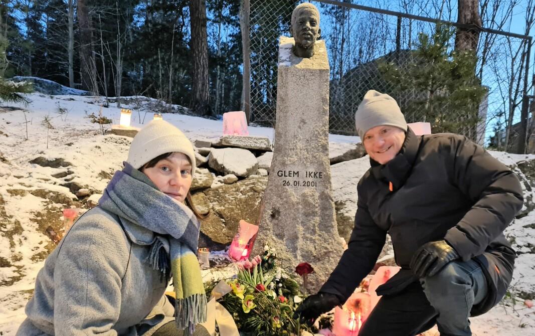 I februar markerte byrådsleder Raymond Johansen og byråd Rina Mariann Hansen at det var 20 år siden Benjamin Hermansen ble drept. Tirsdag ble minnesmerket over han på Holmlia vandalisert.