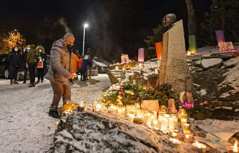 Lys og stillhet til minne om Benjamin Hermansen på Åsbråten
