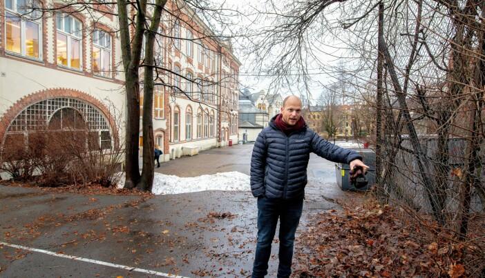 Venstres representnt i bystyrets byuviklingsutvalg, Håkon Riekels, frykter det grønne preget rundt erverdige Hartvig Nissen vil forsvinne under ombyggingen.