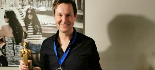 Øyvind (41) fra Narvesen på Continental-hjørnet er kåret til Årets kjøpmann i Narvesen