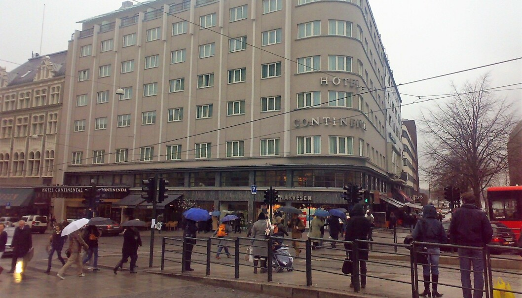 På hjørnet av Continental-bygget ligger årets Narvesen-kiosk.