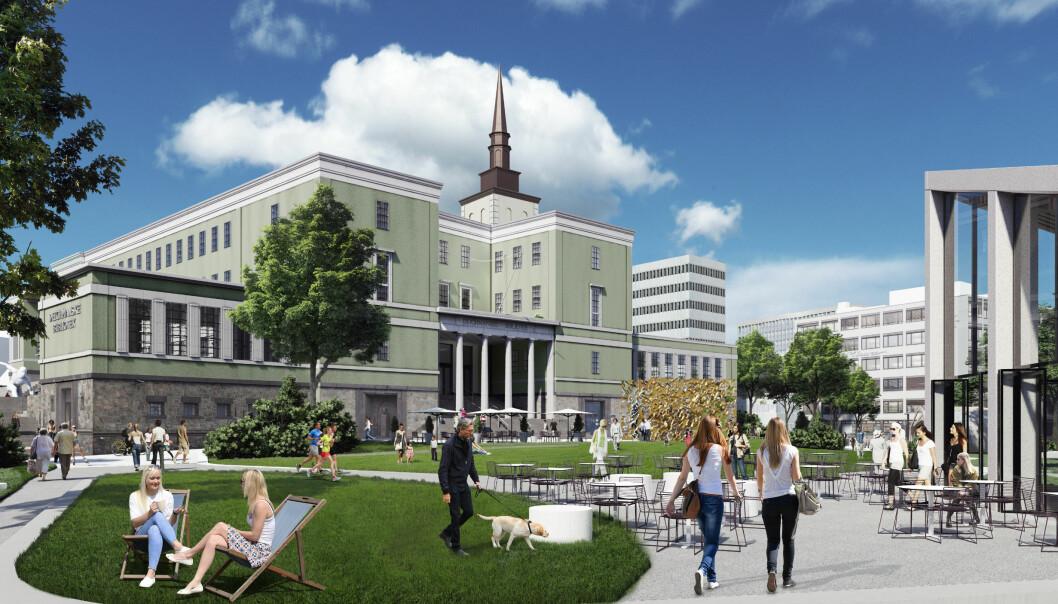 Store planer for Det Gamle Biblioteket på Hammersborg. Målet er å ferdigstille det gamle biblioteket samtidig som Regjeringskvartalet, i 2028.