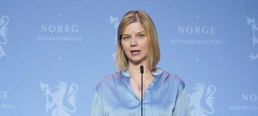 Kunnskapsminister Guri Melby (V) åpner for gult nivå i Oslos skoler: - Nå er det opp til byrådet å vurdere lettelser