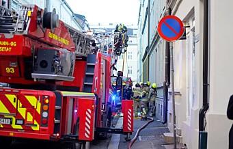 Brann i Fauchalds gate på Majorstua. Fare for spredning til flere bygårder