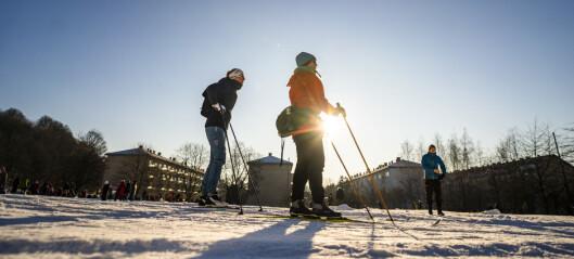Vinterværet holder seg til neste helg. Da er det tilkjørt snø også i Frognerparken og på Voldsløkka
