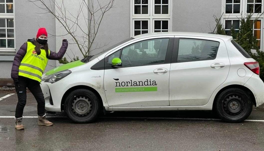 Norlandia hjemmetjenester er en av firmaene arbeiderne streiker mot.