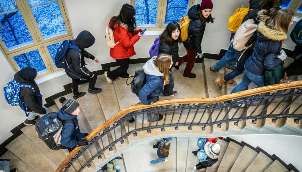 Elever ved Fagerborg skole i bydel St. Hanshaugen. Oslo letter på koronatiltakene og har satt skoler og barnehager på gult nivå.
