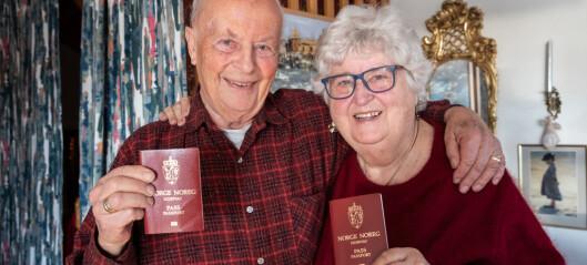 Anne-Lise (80) og Paul (84) er to sprøytestikk unna avreisen til varmere strøk