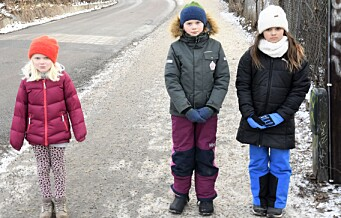 Liv (7) og resten av skoleelevene i Kværnerdalen frykter utbyggingen i Brynsbakken vil gjøre skoleveien farligere