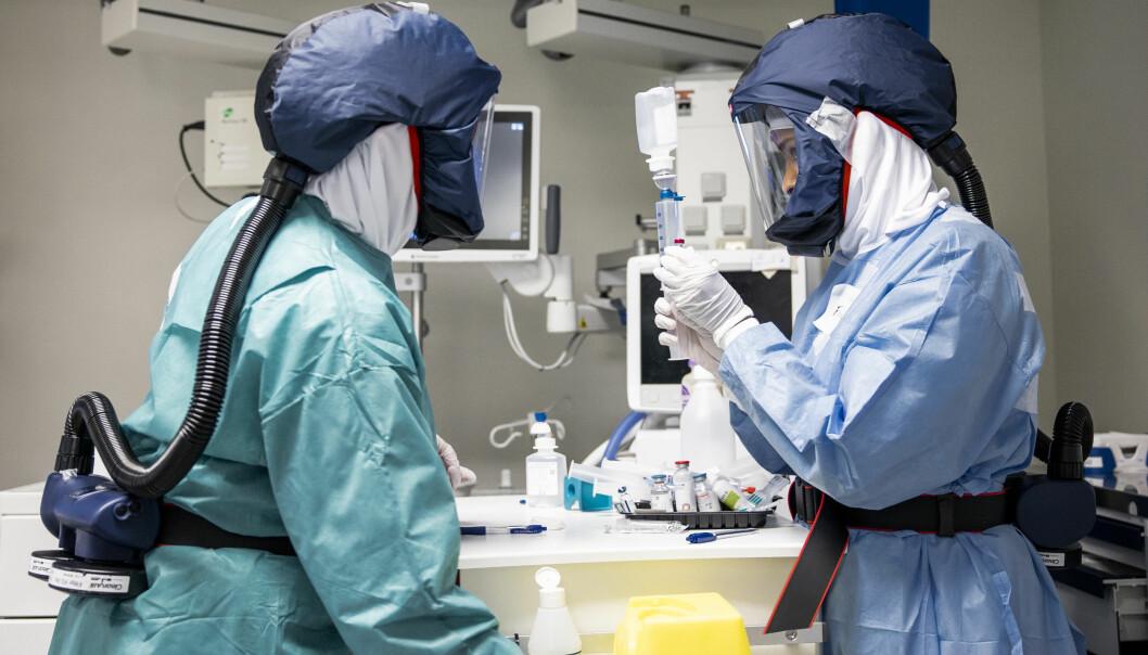 Lørdag var det sju innlagte koronapasienter ved OUS. Fire av pasientene ligger på intensivavdeling.