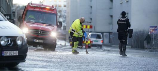 Større vannlekkasje i Sagveien og Maridalsveien. - Ingen veier er stengt, men folk må sjekke bilene sine, sier politiet