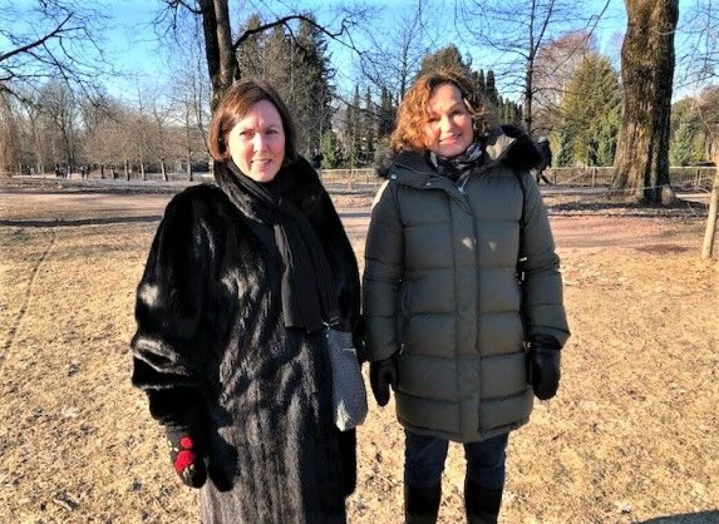 — Oslo fått 3.000 nye barnehageplasser under Ap/SV/MDG-byrådet, og alle barn i bydelen Ullern og Frogner er sikret barnehageplass, sier lederne av Ullern og Frogner Ap, Katrine Ore (til v.) og Inger Huseby.