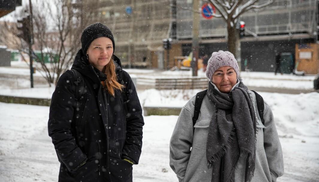 Mari Løken (til venstre) og Cathrine Skårn mener det er nødvendig med en ekstra innsats for kommunale leietagere