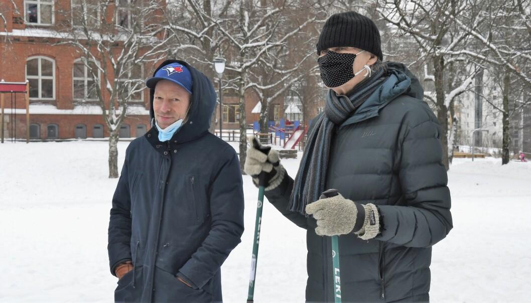 Lokalpolitikerne Tjaran T. Vinje (H) og Olaf Svorstøl (Rødt) var egentlig ikke invitert til ettermiddagens befaring. De møtte opp likevel.