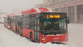 Over 50 bussjåfører i Oslo i karantene – bussene går likevel som planlagt
