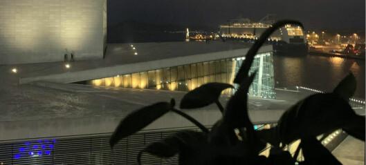 Dette er utsikten fra en av Norges aller dyreste studentboliger, i Bjørvika