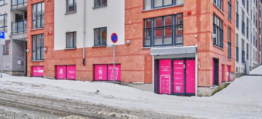 Foodora-butikken kommer på hjørnet av Vøyensvingen og Lofotgata i bydel Sagene