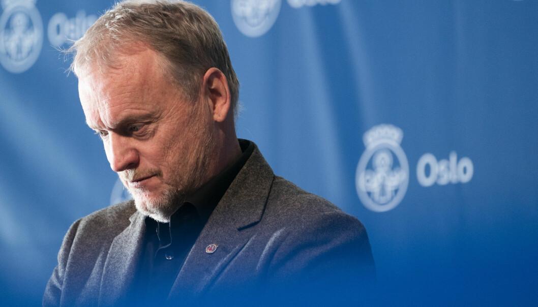 Byrådsleder Raymond Johansen er bekymret for smitteøkningen.