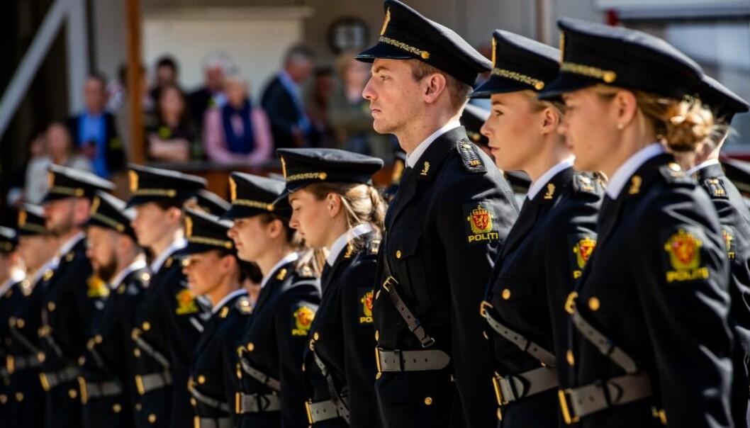 Studentene ved Politihøgskolen på Majorstua ved avslutningen i juni 2019.