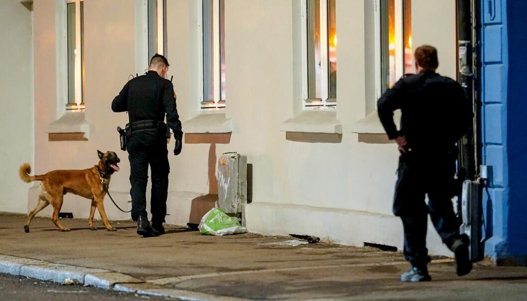 Funn på stedet tyder på at det er brukt skytevåpen ved Hersleb videregående skole natt til lørdag.