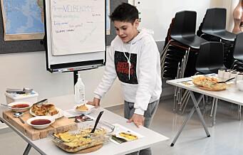 Elevene ved språksenteret på Sofienberg brukte vinterfeiren til å bli superkokker