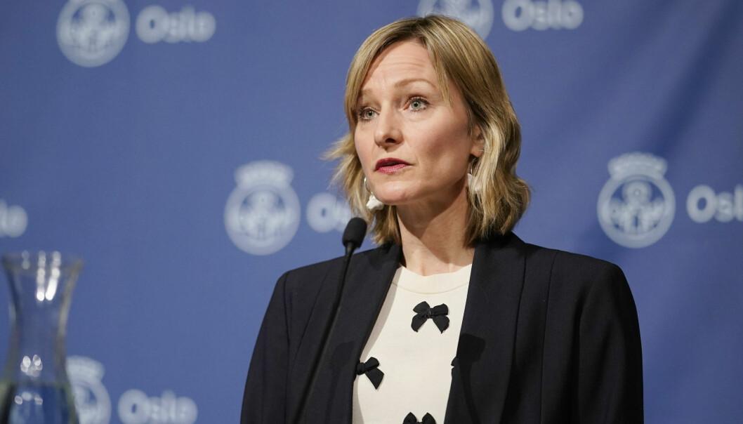 Skolebyråd Inga Marte Thorkildsen (SV) gjeninnfører rødt nivå i Oslos videregående skoler.