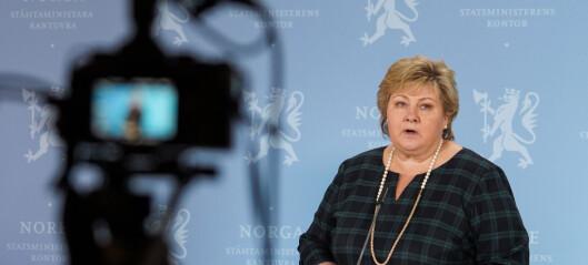 Erna Solberg: - Jeg har ringt Raymond Johansen og beklaget