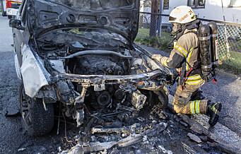 De fleste bilbrannene i Oslo blir henlagt