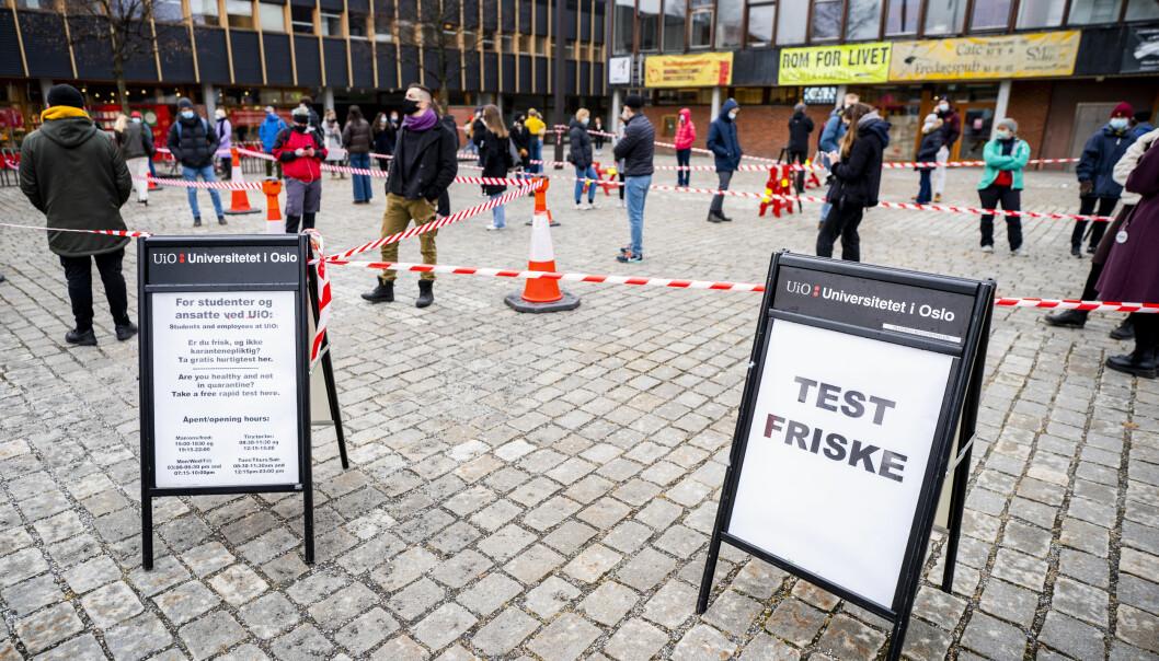 Helsetjenesten ved Studentsamskipnaden i Oslo åpner et nytt korona-testtilbud på Universitetet i Oslo. Testingen vil foregå på Fredrikkeplassen på Blindern.