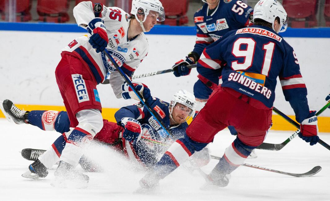 I dag spilte Vålerenga internkamp etter at de igjen får lov til å trene for fullt på isen inne på Jordal Amfi.