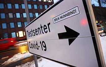 Testkapasiteten er tidvis sprengt ved Oslo universitetssykehus