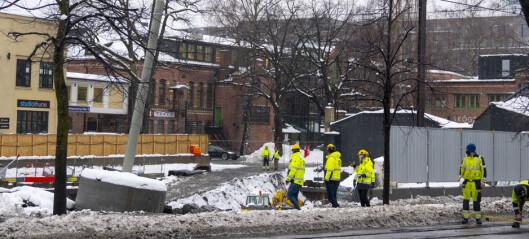 Ring 2 ved Skøyen i Oslo stengt av frykt for at deler av veibanen skal rase ut